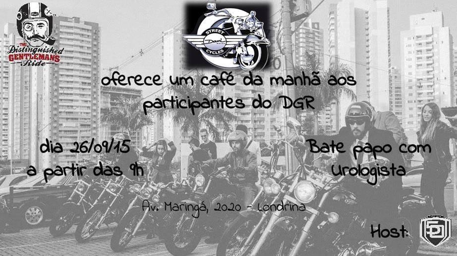 A Fifty Riders hospedará novamente o evento em Londrina no dia 27/09/2015 e o Rais estará participando com a palestra sobre prevenção do câncer de próstata do nosso colaborador George Lopes.