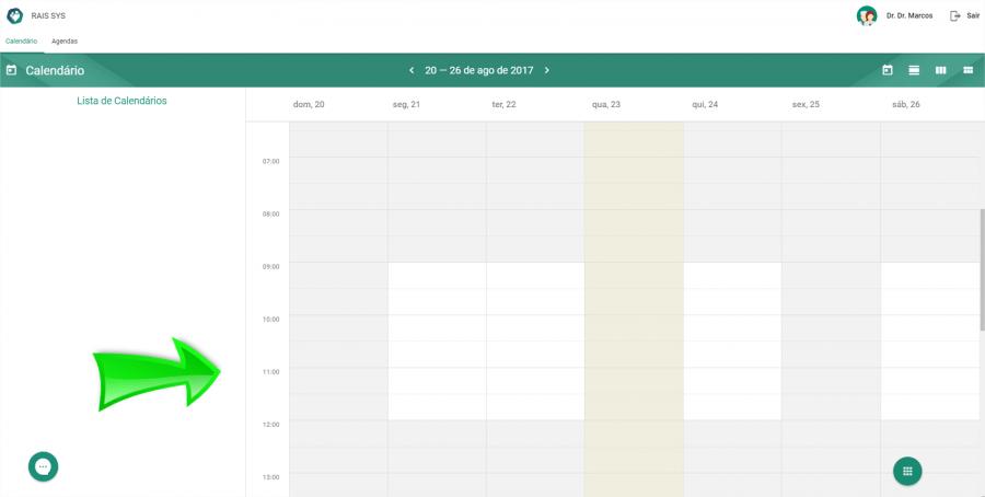 Para esta conta empresa, mesmo definindo um horário no cadastro da agenda, será possível marcar agendamentos fora do horário, ou mesmo encaixes. O sistema Rais Agenda é muito flexível, para deixar você realizar um agendamento da maneira que desejar.